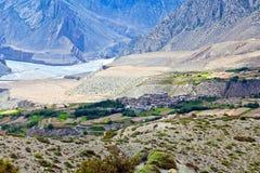 Valle di Kali Gandaki nel Nepal Immagine Stock