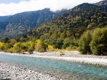 Valle di Kamikochi nel Giappone Fotografia Stock