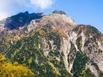 Valle di Kamikochi nel Giappone Fotografia Stock Libera da Diritti