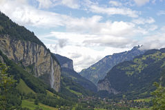 Valle di Lauterbrunnen Immagine Stock