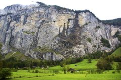 Valle di Lauterbrunnen fotografie stock