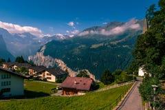 Valle di Lauterbrunnen durante l'estate Fotografie Stock