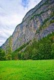 Valle di Lauterbrunnen nel cantone Svizzera di Berna del distretto di Interlaken Oberhasli Fotografia Stock