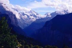 Valle di Lauterbrunnen (regione di Jungfrau, Svizzera) Immagine Stock