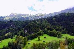 Valle di Lauterbrunnen, regione di Jungfrau, Svizzera Fotografia Stock Libera da Diritti
