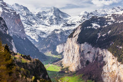 Valle di Lauterbrunnen, Svizzera Immagini Stock