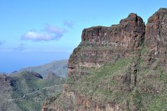 Valle di Masca, Tenerife Immagine Stock
