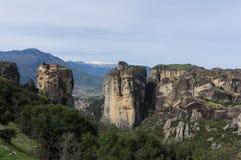 Valle di Meteora, Grecia Fotografia Stock Libera da Diritti
