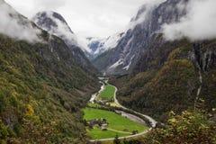 Valle di Naeroy fotografia stock