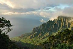 valle di napali di kalalau del litorale Fotografie Stock Libere da Diritti
