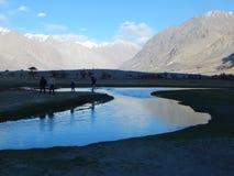Valle di Nubra, Ladakh Fotografie Stock