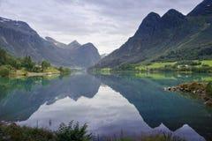 Valle di Oldedalen fotografie stock