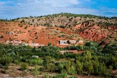 Valle di ourica del villaggio di berbero Fotografia Stock Libera da Diritti