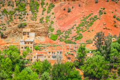 Valle di Ourika nel Marocco Fotografie Stock Libere da Diritti