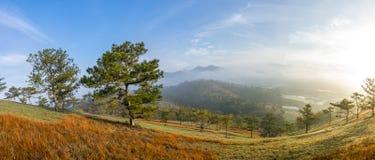 Valle di panorama A nella città di Dalat Fotografia Stock