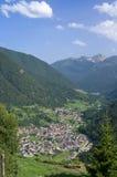 Valle di Pejo, vista aerea Immagini Stock Libere da Diritti