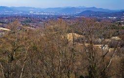 Valle di Piemonte e blu Ridge Mountains fotografia stock libera da diritti