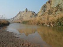 Valle di Pirkadh vicino al villaggio di Nachindi Immagini Stock