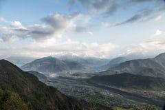 Valle di Pokhara Immagini Stock