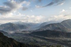 Valle di Pokhara Fotografia Stock