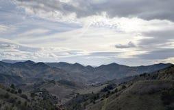 Valle di Porrera nella contea di Priorat (Catalogna, Spagna) Fotografia Stock Libera da Diritti