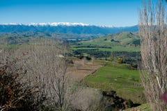 Valle di Rangitikei Fotografia Stock