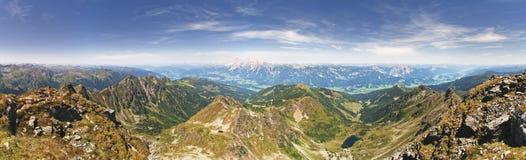 Valle di Schladming Tauern e di Ennstal Fotografia Stock Libera da Diritti