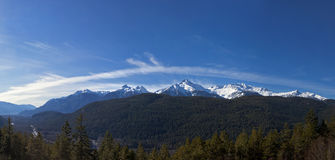 Valle di Squamish (pianura alluvionale) fotografie stock
