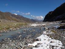 Valle di Stubai: Valle di Berglas Fotografia Stock