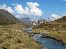 Valle di Stubai: Valle di Oberberg Immagini Stock Libere da Diritti