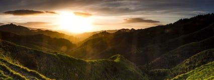 Valle di Sunflared Fotografia Stock Libera da Diritti