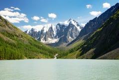 Valle di Szavlo nell'intervallo di altai Fotografia Stock