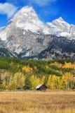 Valle di Teton nella caduta Fotografie Stock Libere da Diritti