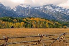 Valle di Teton nella caduta Immagini Stock Libere da Diritti