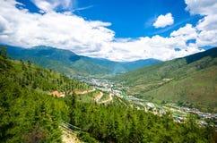 Valle di Thimphu di estate Immagini Stock Libere da Diritti