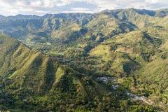 Valle di Tierradentro fotografia stock