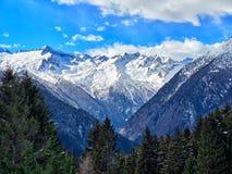 Valle di Trentino Alto Adige Rendena delle dolomia di vista panoramica Fotografia Stock