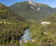 Valle di Ubaye (alpi francesi) Fotografia Stock Libera da Diritti