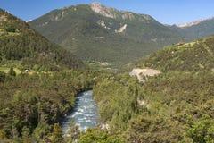Valle di Ubaye (alpi francesi) Immagini Stock Libere da Diritti