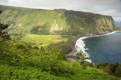 Valle di Waipio con l'avvicinamento del maltempo Fotografia Stock Libera da Diritti