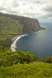 Valle di Waipio (litorale) di Hamakua, Hawai Immagine Stock Libera da Diritti