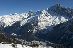 Valle di Winterly di Chamonix, Francia Fotografia Stock Libera da Diritti