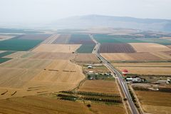 Valle di Yezreel e supporto Gilboa Immagine Stock