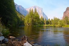 Valle di Yosemite Immagine Stock