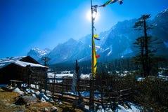 Valle di Yumthang nell'inverno Fotografia Stock