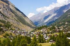 Valle di Zermatt, Svizzera Fotografie Stock Libere da Diritti