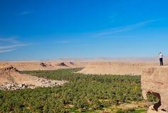 Valle di Ziz, Moroco - 3 dicembre 2018: viste della valle dello ziz fotografie stock