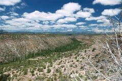 Valle a distanza del New Mexico Immagine Stock Libera da Diritti