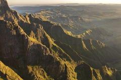 Valle dorata del Drakensberg Fotografie Stock