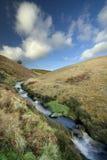 Valle e fiume Fotografie Stock
